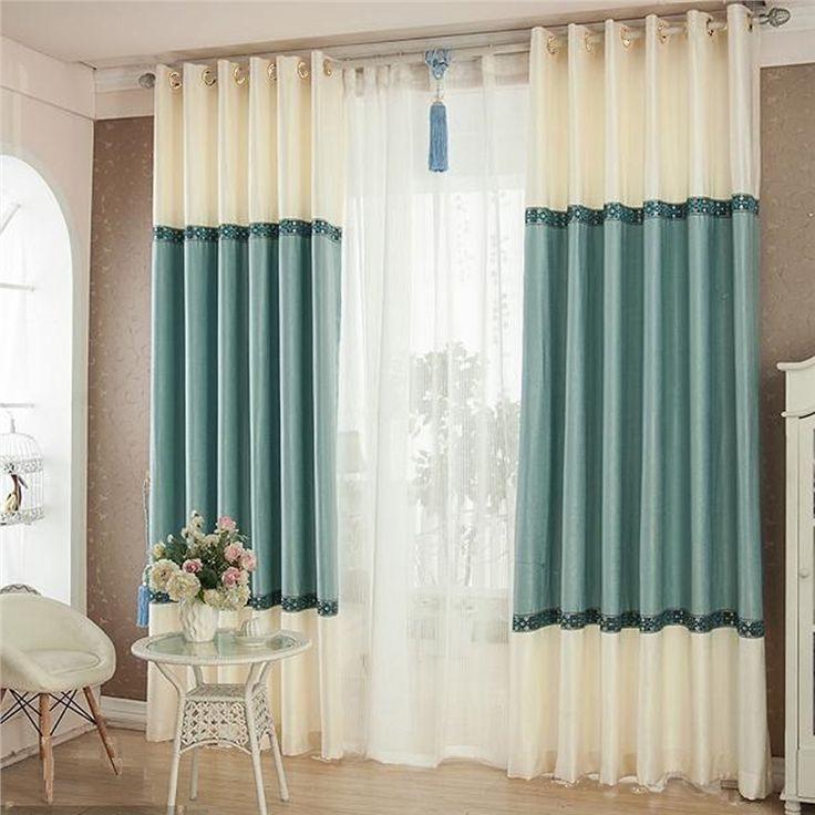 遮光カーテン 北欧カーテン 2色組み 無地柄 ポリエステル&綿 3級遮光カーテン(1枚)