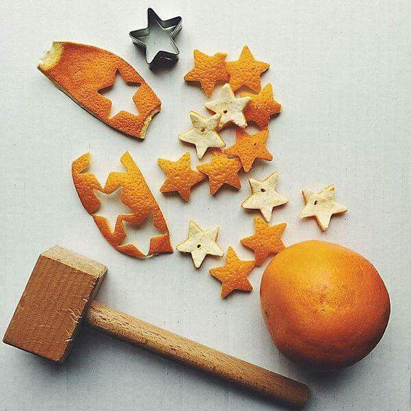 Make Orange peel star Garland!!