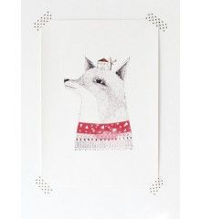 Poster Fox by Miss Malagata. Available in the Printed Stories webshop.
