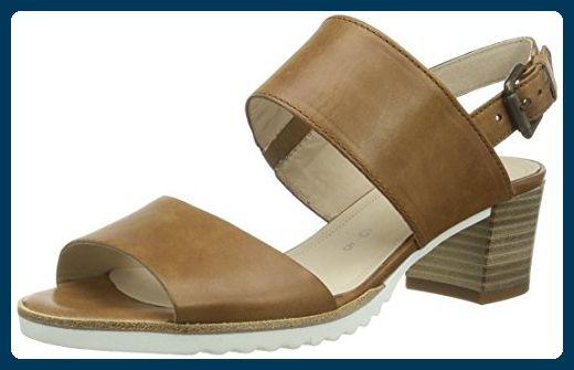 Gabor Shoes 42.385 Damen Offen Sandalen ,Braun (54 peanut (S.weiss)) ,40 EU - Sandalen für frauen (*Partner-Link)