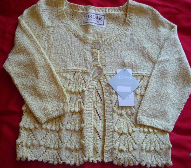 Ladies Hand-knitted DK Summer Cardigan