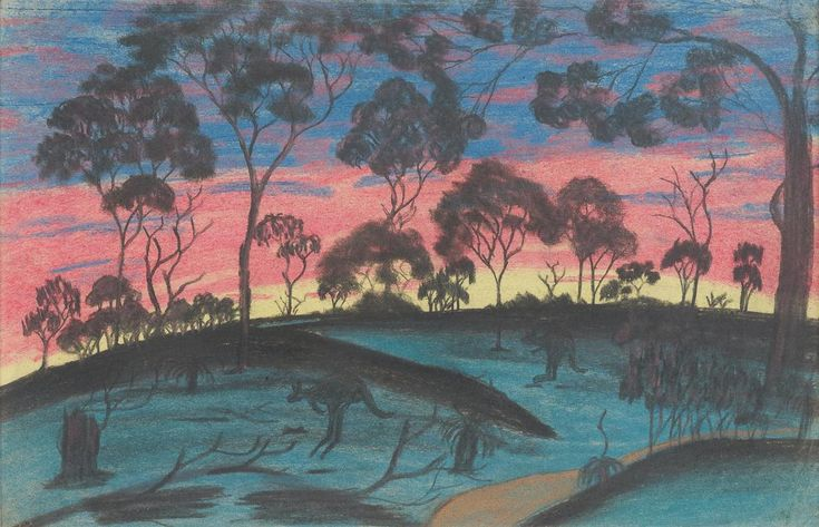The Colours Of The Setting Sun, Attributed to Keith Indich, The Herbert Mayer Collection of Carrolup Artwork, Curtin University Art Collection