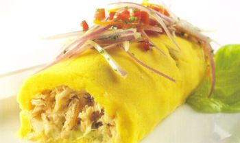 In its simplest form the Causa is a yellow potato dumpbling that has lime, onion and yellow chili pepper in it. There are many different types of variations to this delicious snack whether it be with beef, chicken, avocado, or some type of shell fish from the sea.