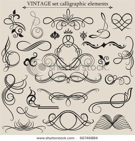 Calligraphy Design Elements