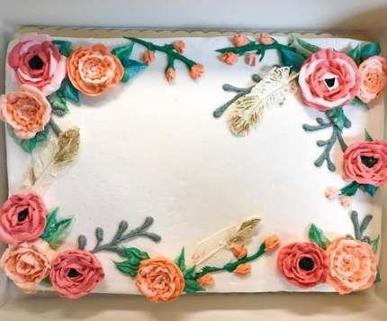 57 + Ideen Bridal Shower Kuchen Blatt Blume für 2019   – birthday