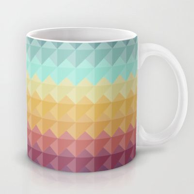 Retro Triangles Mug by Refreshdesign