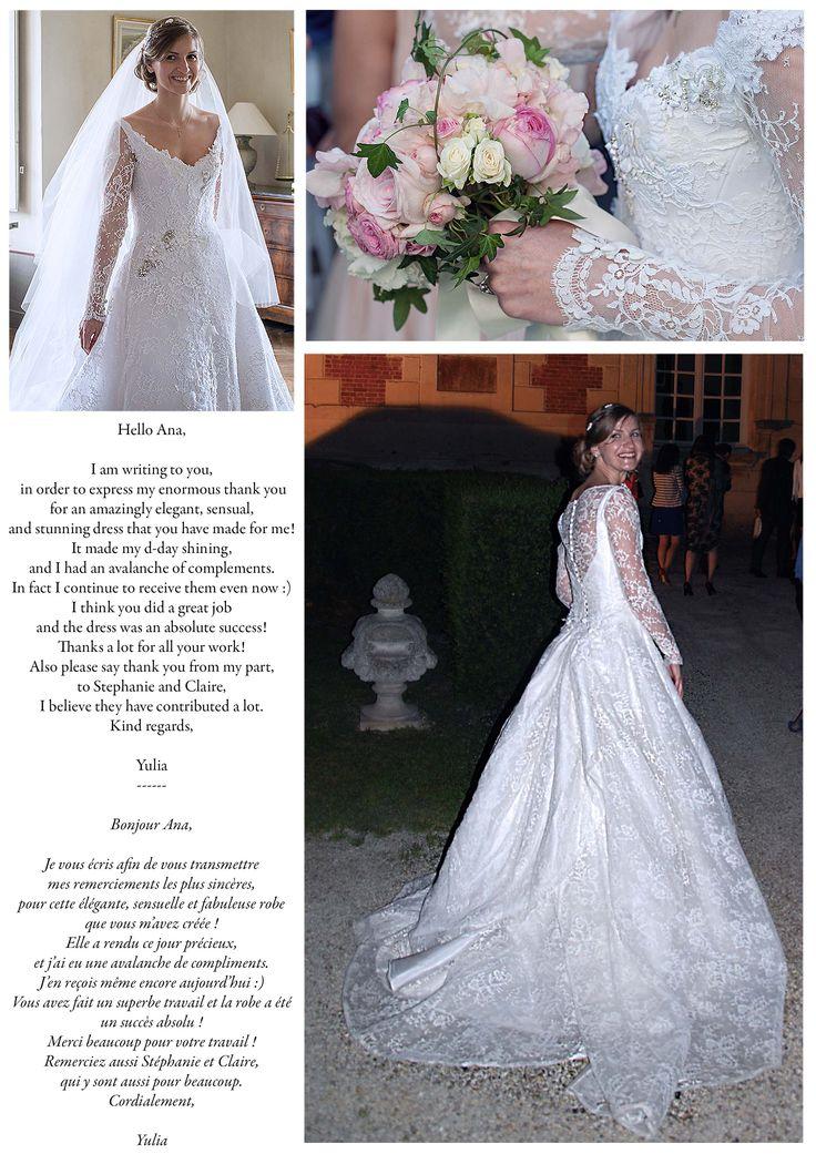 Yulia, dans sa version de la robe JULIA. Yulia, in her version of the gown JULIA.