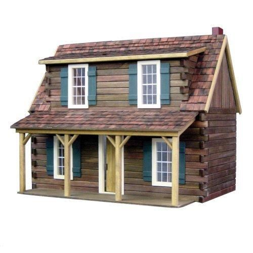 Real Good Toys Adirondack Cabin Dollhouse Kit - 1 Inch Scale - Collector Dollhouse Kits at Hayneedle