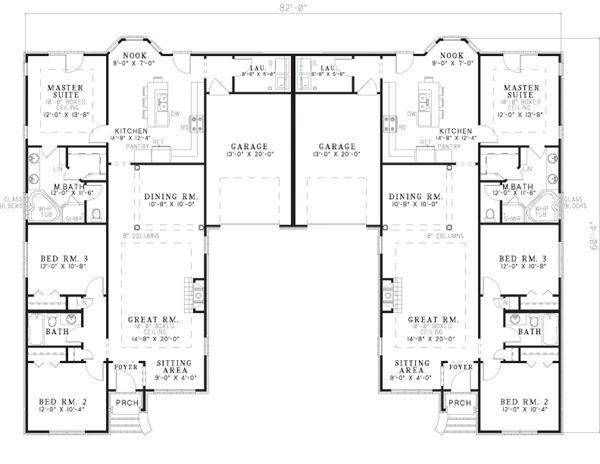 Multi Family Plan 62381 Floor Plans And Floors