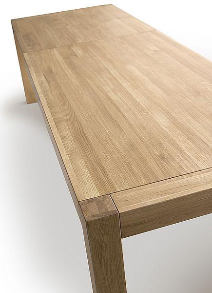 Folding table BLOX 180+50+50x90 Colour: NATURAL - www.miloni.pl/en MILONI: wooden table, oak table, natural wood table, table design, furniture design, modern table