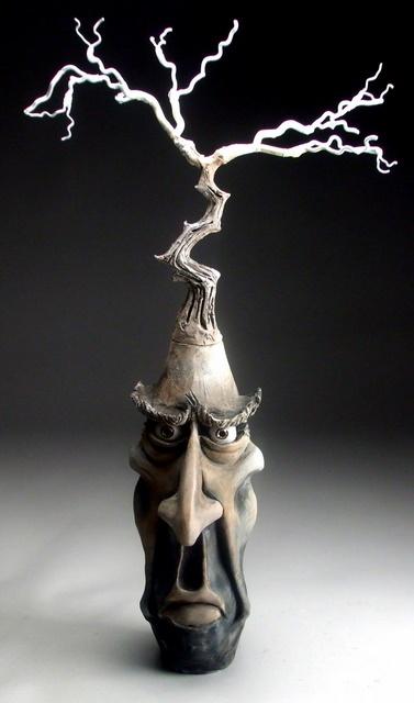 Mitchell Grafton - Bonsai Tree Face Jug Ceramic Sculpture (http://www.hiddenridgegallery.com/store/mitchell-grafton/bonsai-tree-face-jug.html) #art #sculpture #ceramics #pottery #mitchellgrafton