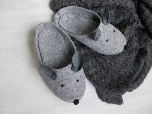 Kapcie myszki - filc, kapcie, myszka - TRENDmag.pl - najnowsze trendy
