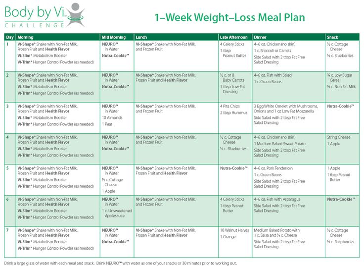 meal replacement weight loss plan