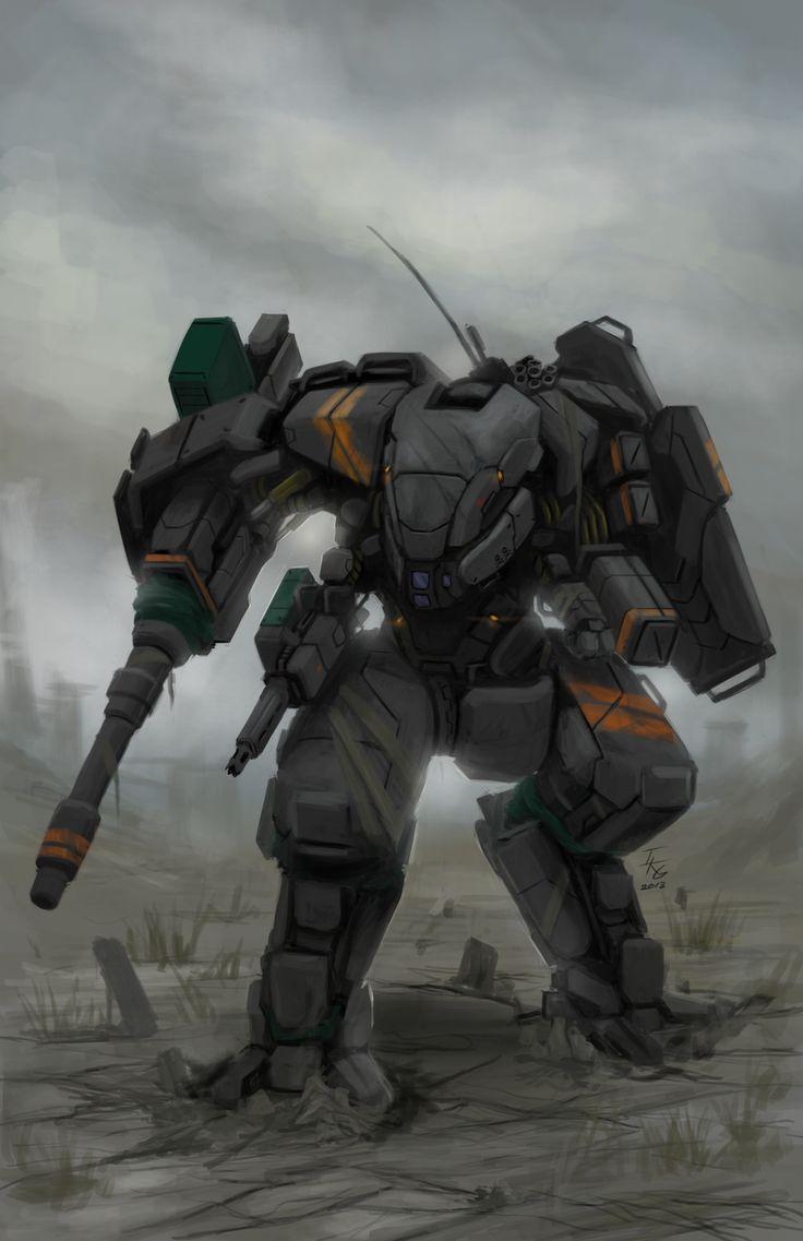 CGMA Mecha Contest Entry(Combat Mech) by ~ianskie1 on deviantART