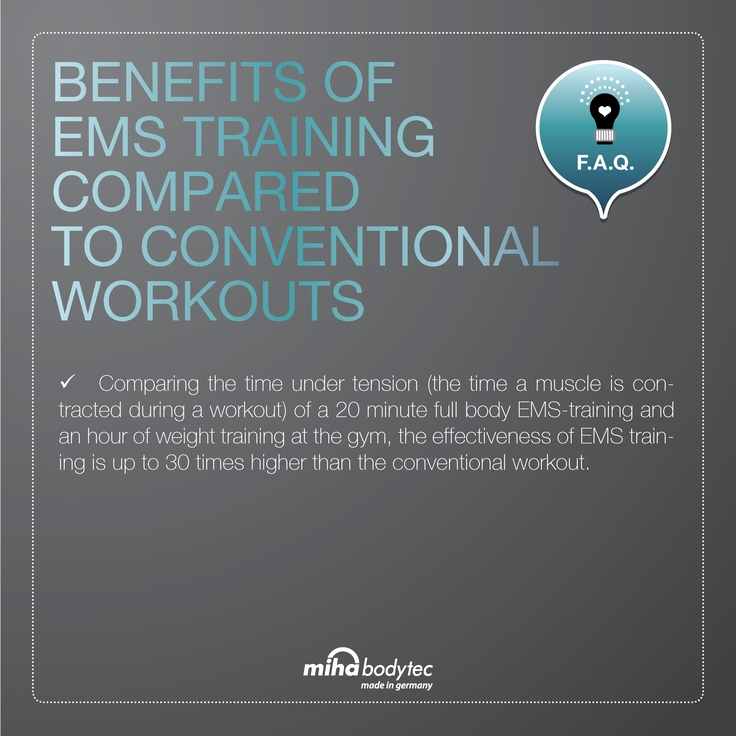 benefits of ems training compared to conventional workouts