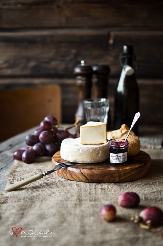 Cheese with fruit and jam. Oh yes! Remember to enjoy your canned jams and preserves with cheese too! Decadent!