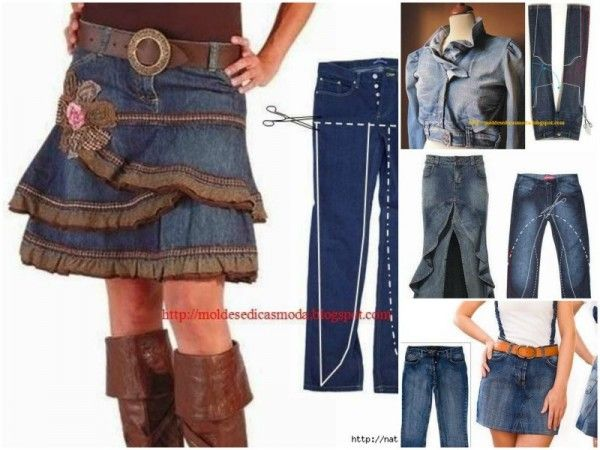 repurpose old jeans into new fashion tutorial