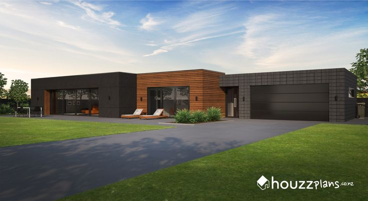 Benton - Modern Contemporary House Plan .... Browse all house plans here: www.houzzplans.co.nz