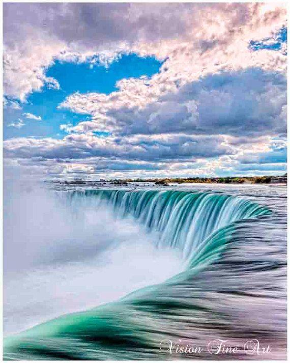 TITLE: Niagara Falls in rich colors. MEDIUM: Fine art print (unframed) PRINT…