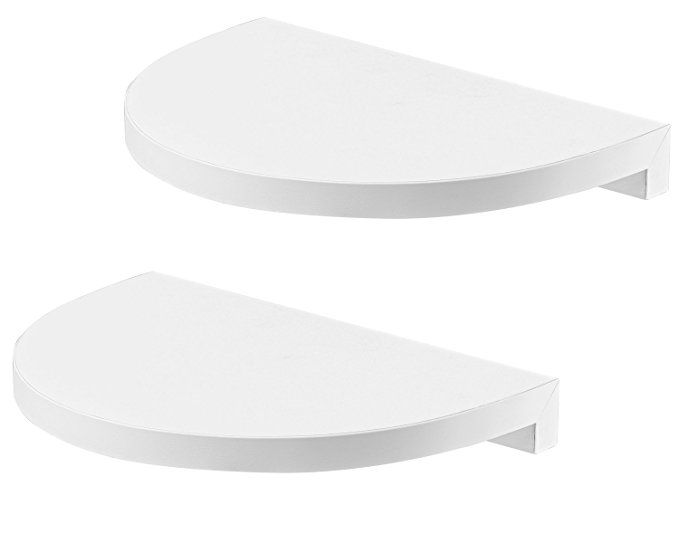 Halter Rounded Floating Wall Shelves, Half Round Wall Shelf