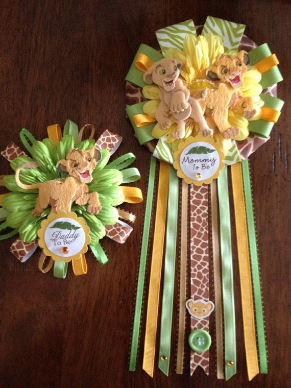 mommy and daddy to be lion king | Lion King Mommy and Daddy To Be Corsage Set | Jungle safari nursery ...