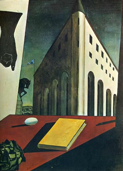 Turin Spring, 1914 - Giorgio de Chirico - In this piece, the artist uses space by altering the detail.  The most detailed subjects are meant to be the closest.  As the painting creates distance, it loses the detail much like it would in real life.