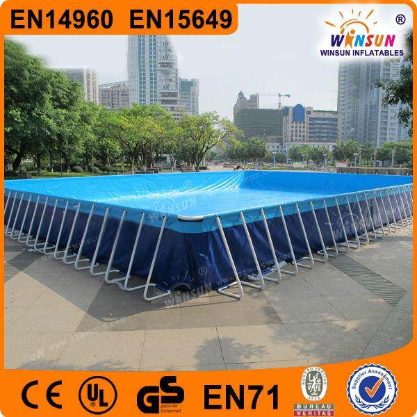 Metal Frame Plastic Swimming Pools,above ground kids pvc swimming pool $2800~$3200