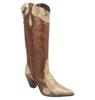 BOTA-COUNTRY-TEXANA-LADYSILVER-2243-ANACONDA-OSSO-ARRAIA-CAFE-SOLA-COURO-1