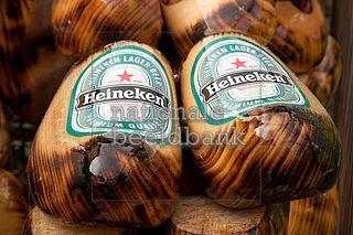 Houten klompen ♥met Heineken logo