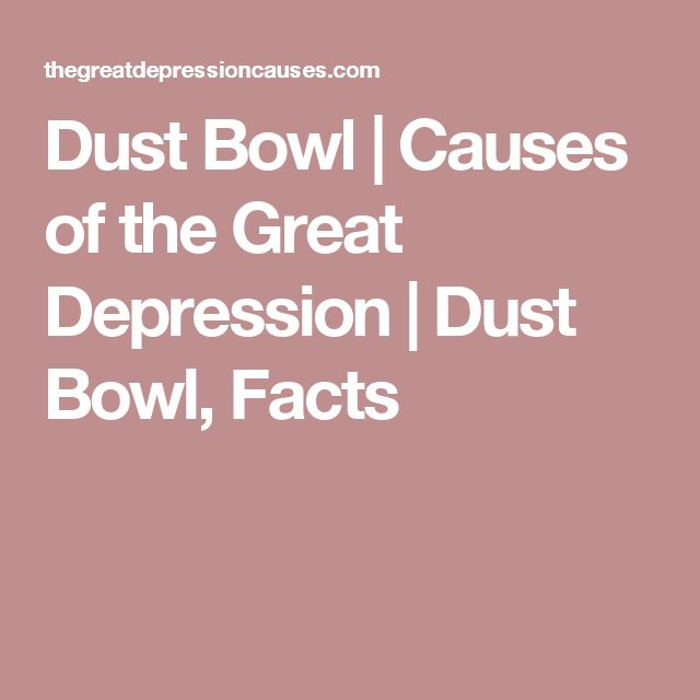 What were the causes of the dust bowl-4485