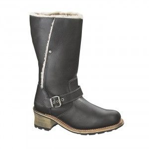Caterpillar Anna Black Women's Biker Boots #caterpillar #boots #style #fashion #autumn #winter