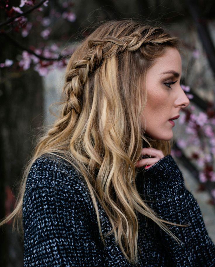 E uma trança para animar o cabelo solto, como fez a Olivia Palermo?