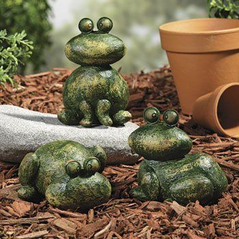 Stone-Look Frogs - Party Decorations & Yard Decor by Oriental Trading Company. $13.99. Stone-Look Frogs. These lightweight resin frogs will add interest to any space. 2 1/2 to 5H. Details: Resin, Outdoor/Patio, Frogs & Turtles, Garden, Sale
