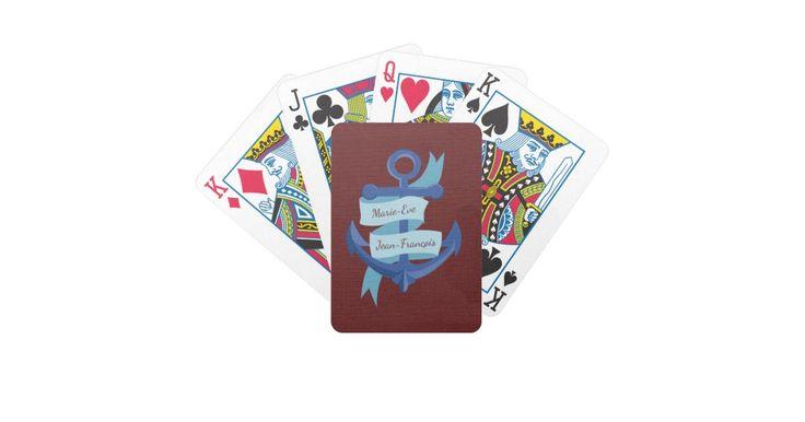 Nautical Wedding Bicycle Playing Cards #Zazzle #Weddings