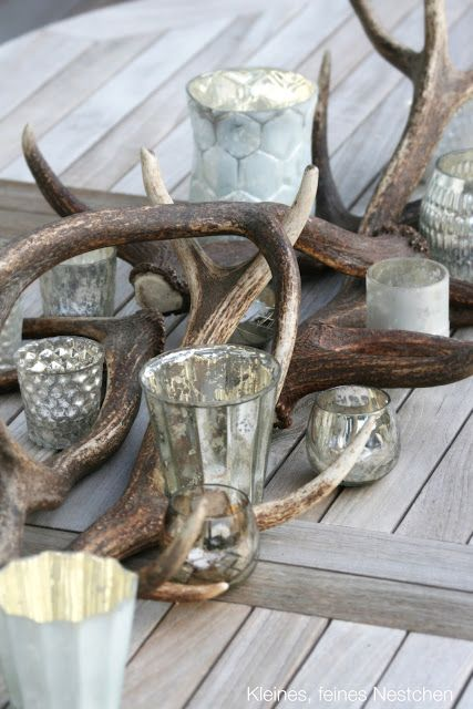 Gray and white Christmas inspiration ~ rustic