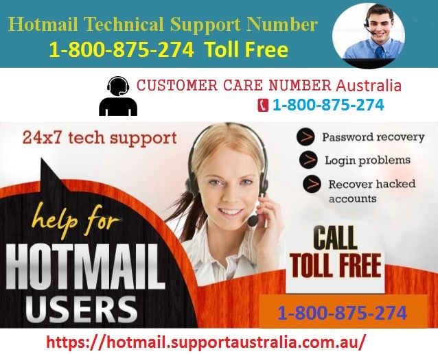 Facing problems with your Hotmail account or Outlook account? Looking for Hotmail support? If yes then dial Hotmail tech support toll-free number 1-800-875-274  and get instant help.