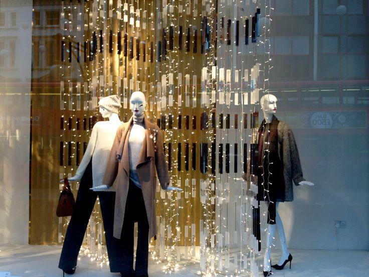 #Christmas windows 2014: Zara, Oxford Street. Relatively minimal for  a Christmas window, but we like the simplicity. #visualmerchandising #VM