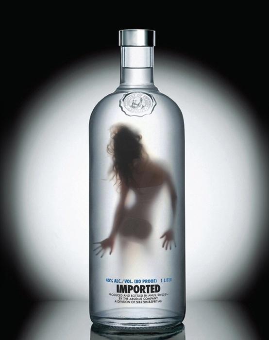 A woman in a bottle of Vodka. Follow me in Twitter @johnnymatosrd