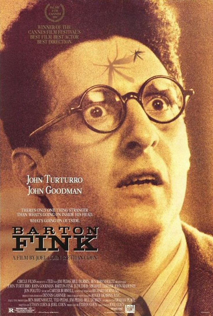 Barton Fink (1991) D: Joel Coen. Prod/Sc: Joel and Ethan Coen. John Turturro, John Goodman, Steve Buscemi, Judy Davis, Jock Mahoney.