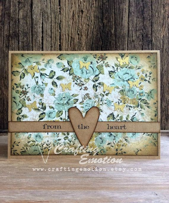 Handmade Greeting Card, Rustic Mother's day Card by Crafting Emotion $9.50AUD