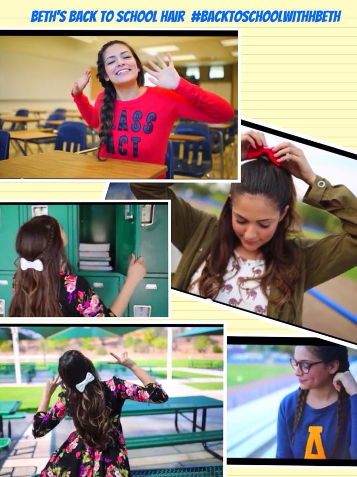 Beth shows us some new, quick hairstyles for school, Don't be late! click to watch the vid. #BackToSchoolWithBeth