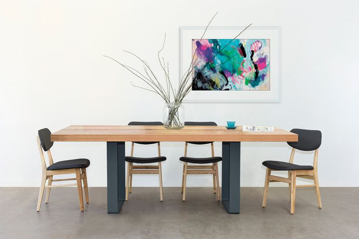 This dining table is our most popular design. Using a mix of 70mm thick recycled hardwood and featuring a metal or timber box leg. Price range: $1,500 – $3,300 AUD