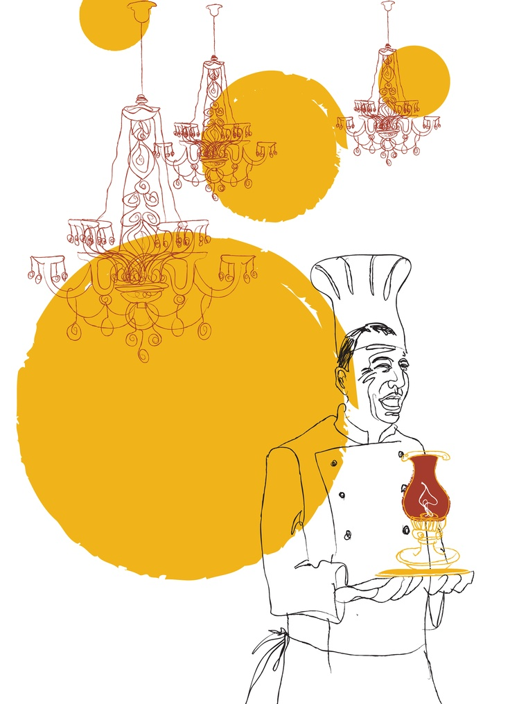 'YOU 화법으로 시작하라' 본문에 삽입된 삽화(마리오 쿠오모 요리사)