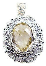 excellent Citrine 925 Sterling Silver Yellow Pendant india US gift