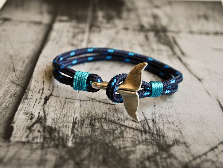 Blue whale tail mens paracord nautical bracelet | nautical wristband | nautische armband | pulsera hombre | dolphin tail bracelet by CristinaHandmade on Etsy https://www.etsy.com/uk/listing/241059989/blue-whale-tail-mens-paracord-nautical
