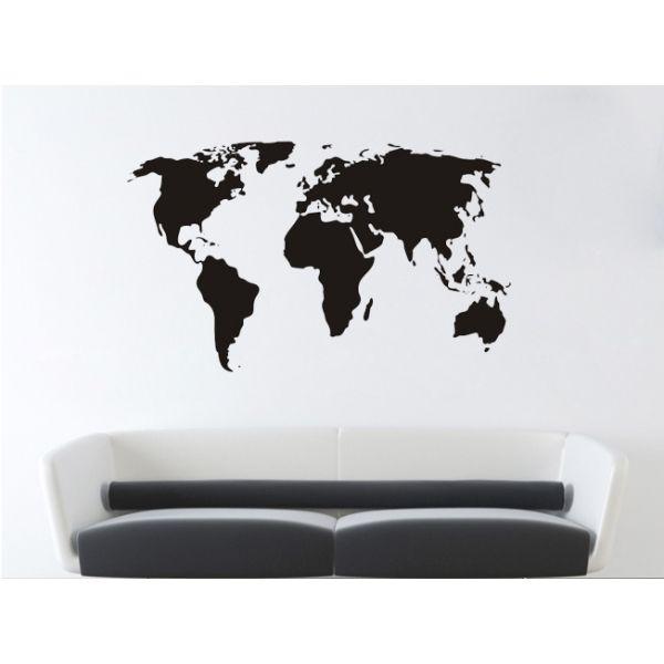 Till barnens rum för att dekorera med Mats vimplar bla - Världskarta / World Map Väggdekor i Vardagsrum & Hall