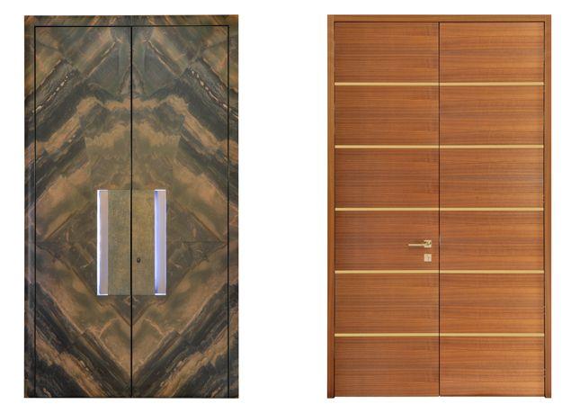 Innovative Tür - Hauseingangstür Türdeck mit Stein