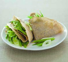 Crespelle di grano saraceno con fagiolini e cipollotti - Tutte le ricette dalla A alla Z - Cucina Naturale - Ricette, Menu, Diete