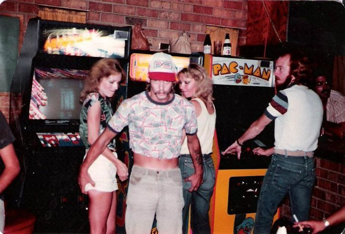 I Just Found This Photo Of My Dad In The 80's. Apparently He Was Quite The Ladies Man