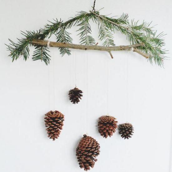 Pine cones are the perfect winter decoration, especially because you can find them in your backyard or in your local park. Bring nature into your home and decorate your tree with the Pine Cone Ornament Mobile.
